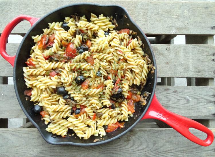 pasta puttanesca - hoerenpasta